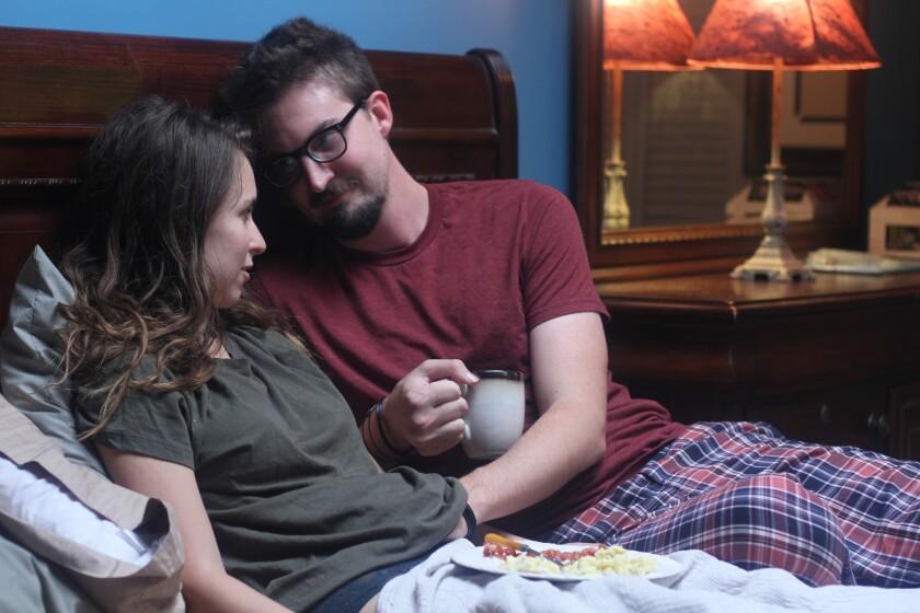 "Adam Wingard and Sophia Takal in the ""24 Exposures."""