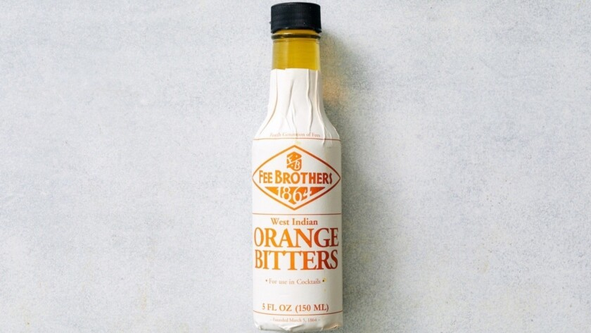 LOS ANGELES - TUESDAY, APRIL 16, 2019: Orange bitters, a key ingredient in Elise Field's strawberry