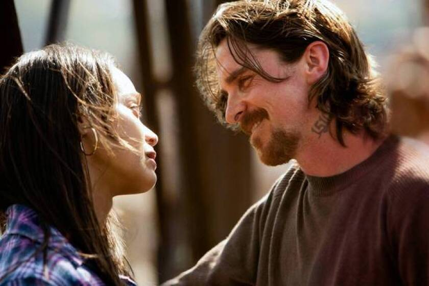"""Zoe Saldana and Christian Bale star in """"Out of the Furnace."""""""