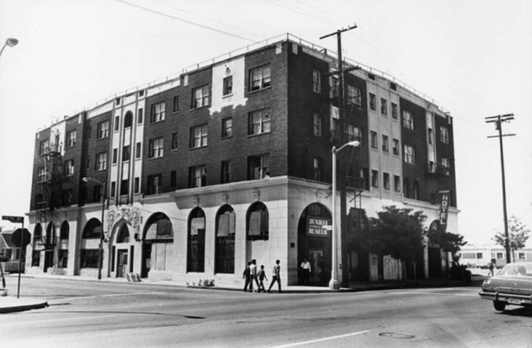 The Dunbar Hotel in 1987