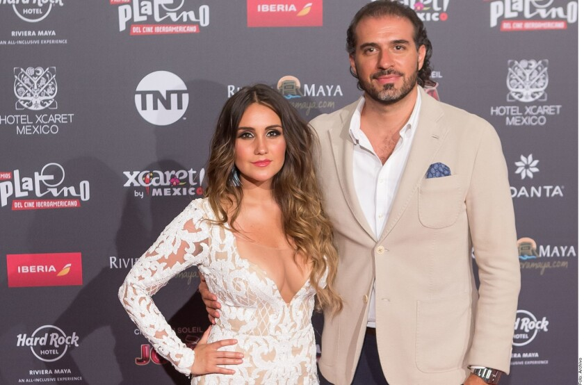 Dulce junto al padre de su hija, Francisco Álvarez.