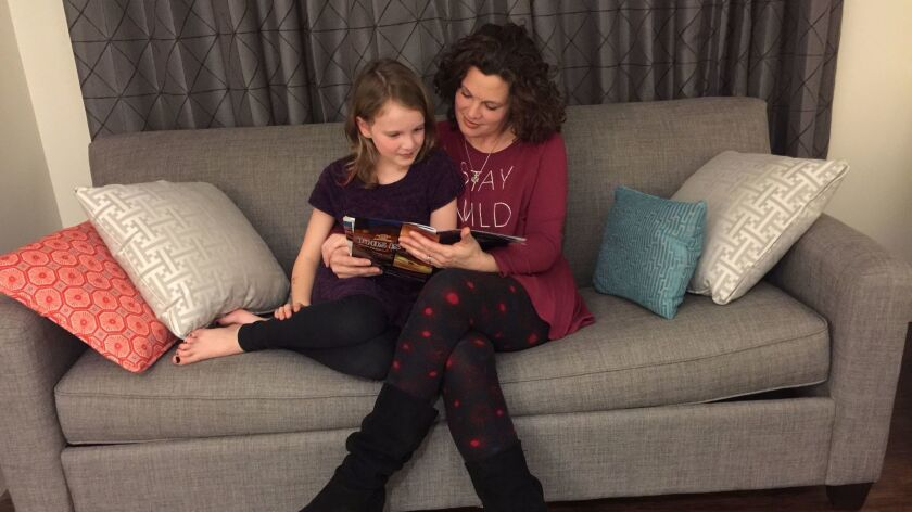 """Melissa Linebaugh felt unwelcome at the Women's March on Washington because of the organizers' stance on abortion. So she decided to skip the march in favor a """"girls' weekend"""" with her daughter, Selah."""