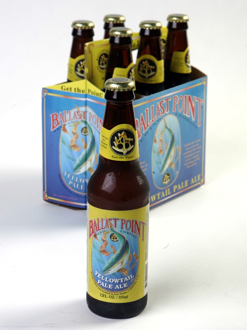 For Peter Rowe column: Ballast Point Yellowtail Pale Ale. UT/CRISSY PASCUAL