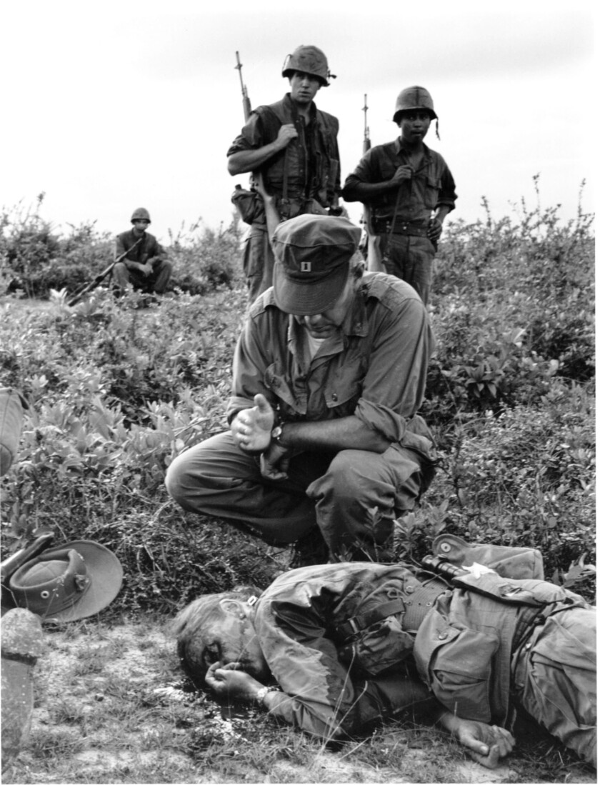 Photographer Dickey Chapelle was covering a U.S. Marine unit on a combat operation in South Vietnam on Nov. 4, 1965 when she was killed by an exploding mine.