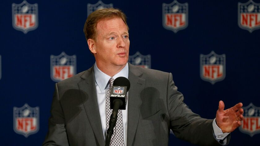 NFL Commissioner Roger Goodell talks about the NFL football owners approving the move of the Oakland