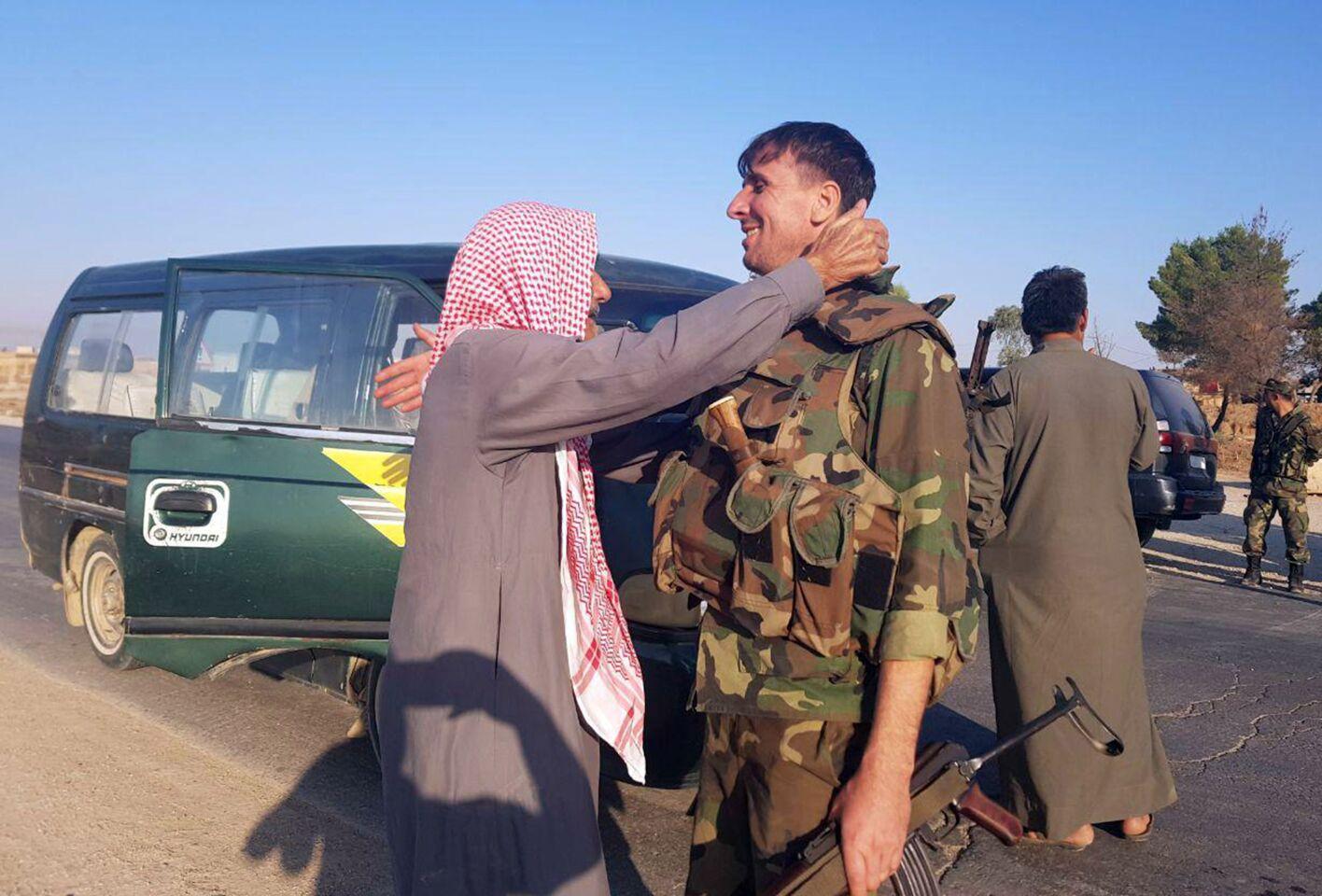 Syrian army deployed across Kurdish-held areas in northeastern Syria