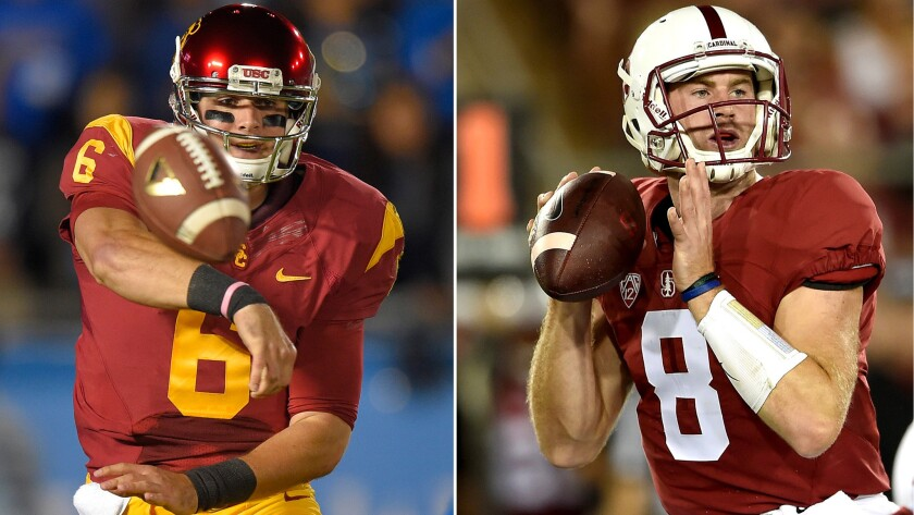 USC, with Cody Kessler (6) and Stanford, with Kevin Hogan (8), have the two most experienced quarterbacks in the Pac-12 Conference.