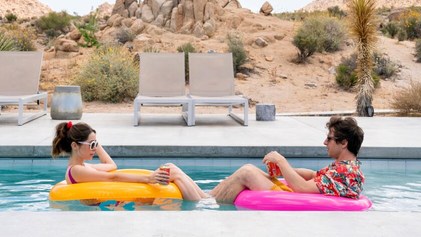 "Cristin Milioti and Andy Samberg in ""Palm Springs."""