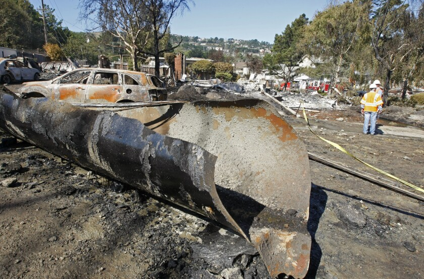 A 2010 pipeline explosion in San Bruno, Calif., killed eight people and destroyed 38 homes.