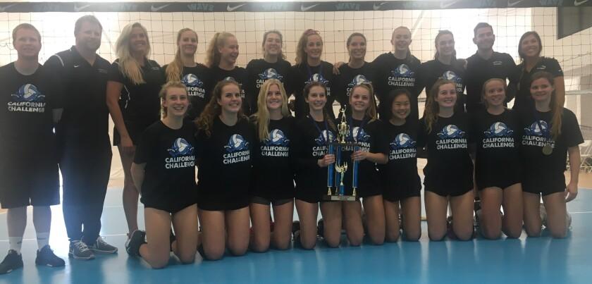California Challenge Champions: Torrey Pines High School girls volleyball team