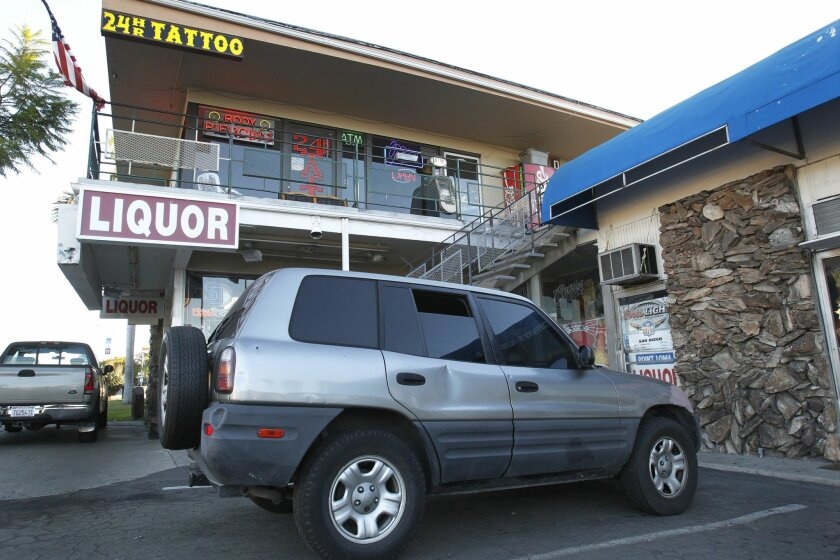 A baby was found in this gray SUV outside of a tattoo parlor at Rosecrans and Harbor drive early Wednesday morning, November 13.  She was taken to Polinski child center.