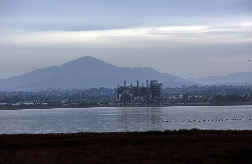 The South Bay Power Plant in Chula Vista has cast a long shadow over the bayfront since 1960. The plant was decommissioned in 2010 and is set to be imploded on Saturday. Peggy Peattie • U-T