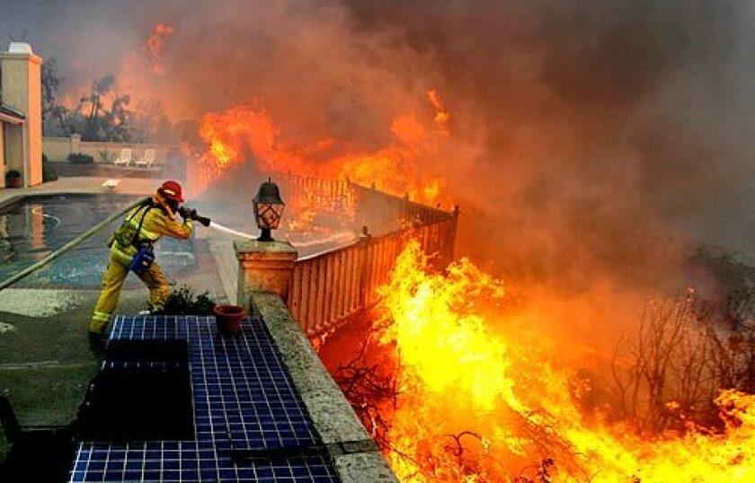 Santa Clara firefighter Jason Falarski said of thi, 'I don't want to lose this house.