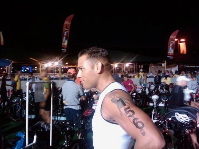 Clay Treska at the 2010 World championship Ironman he competed in.