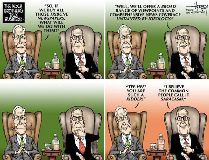 Do Koch brothers want to turn Tribune newspapers into Fox News?