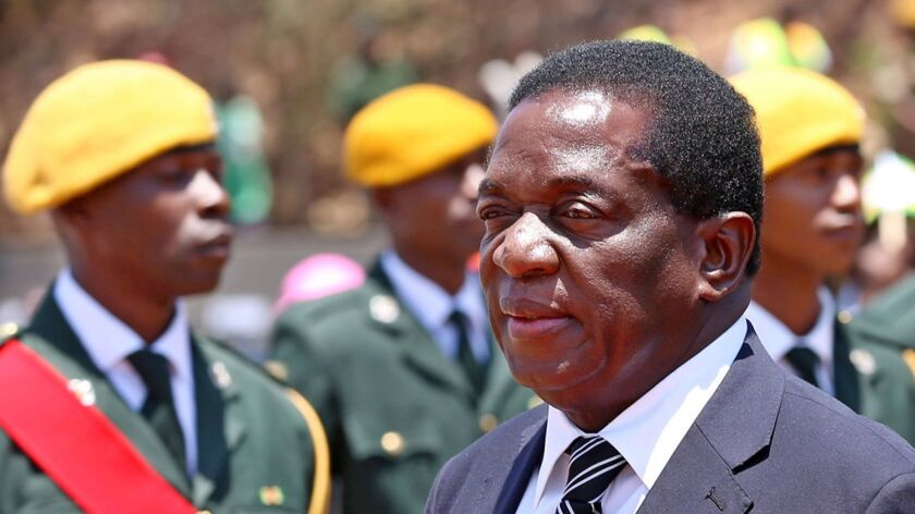 Deputy President Emmerson Mnangagwa, who was removed from his post, in Harare, Zimbabwe, on Nov. 1, 2017.