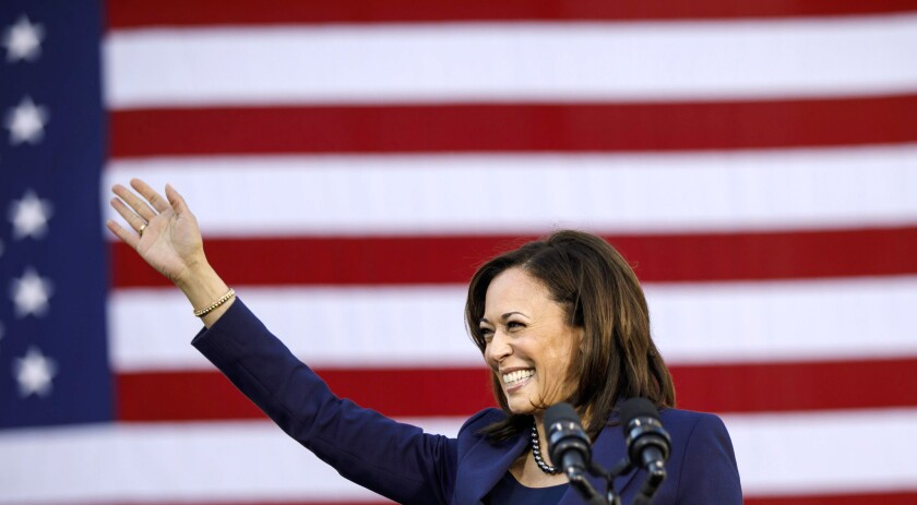 Sen. Kamala Harris kick-starts her presidential campaign at a rally in her hometown of Oakland.