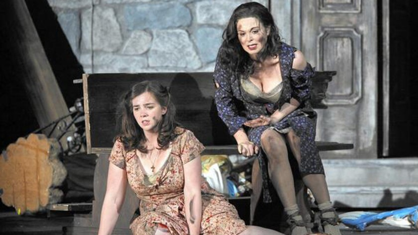 """""""Two Women"""" features Sarah Shafer, left, and Anna Caterina Antonacci."""