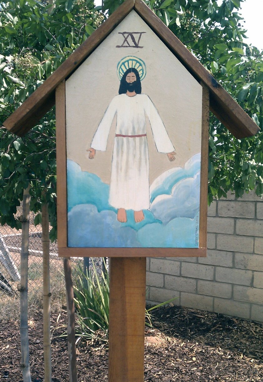 The 15th Station of the Cross at Holy Trinity School in El Cajon.