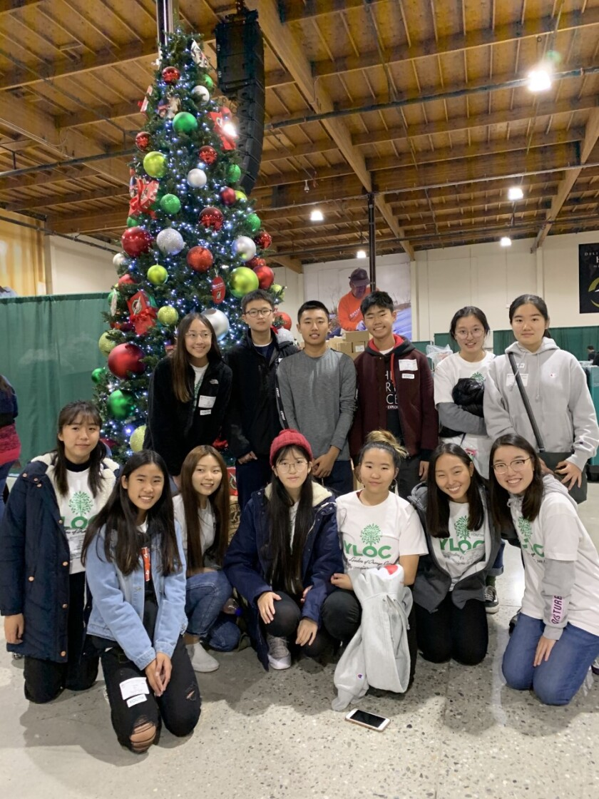 YLOC members volunteered for Operation Christmas Child