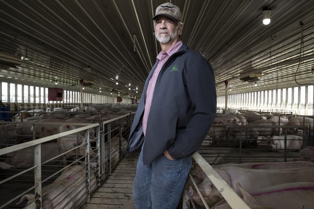 Craig Anderson, 51, is a fourth-generation hog farmer.