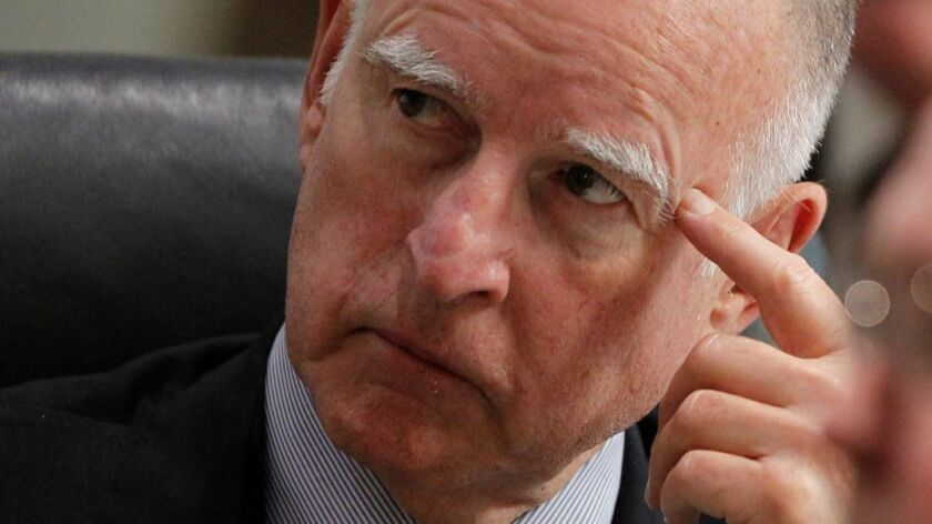 """Gov. Jerry Brown said in an interview that """"you can't force Republicans to deal with climate change in a serious way."""""""