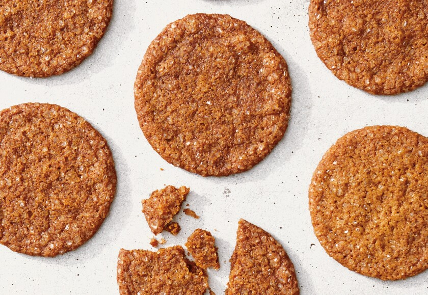 """Molasses-Ginger Crisps from """"Martha Stewart's Cookie Perfection."""""""