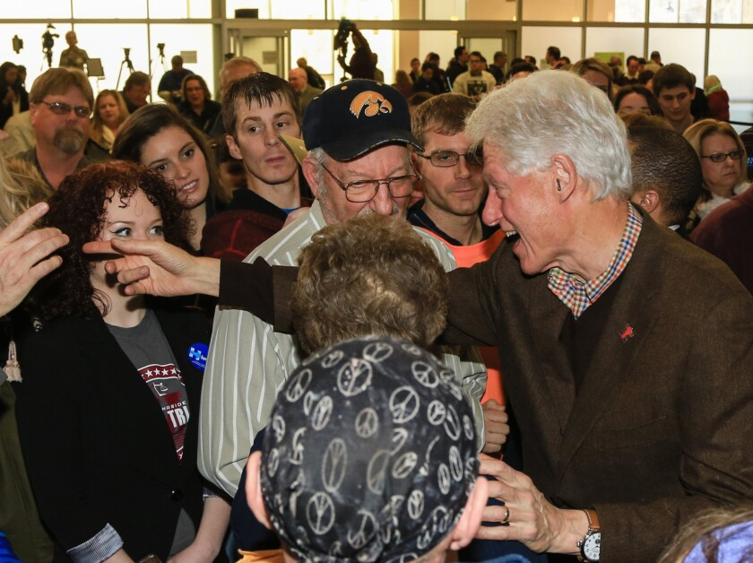 Bill Clinton in Iowa