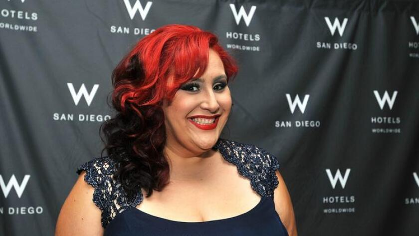 """Claudia Sandoval before the start of the """"MasterChef"""" finale viewing party at the W Hotel. Sandoval was crowned the winner. (/ Rick Nocon)"""