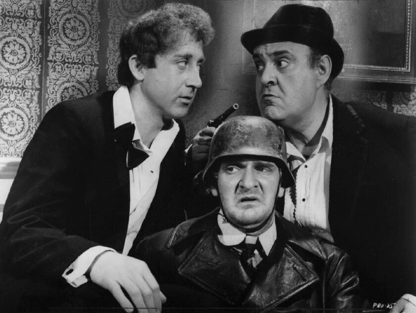 "Gene Wilder, Kenneth Mars and Zero Mostel in ""The Producers"" 1968."