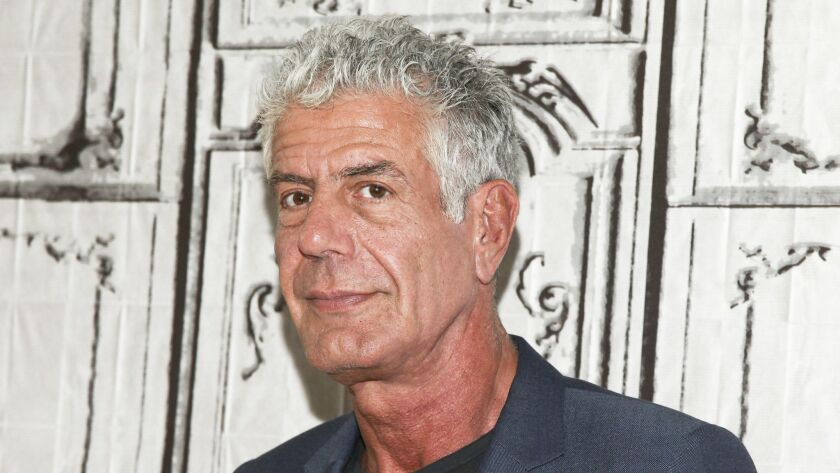 The suicide of chef Anthony Bourdain, shown here in 2016, has sparked a national conversation about depression, mental health and suicide prevention.