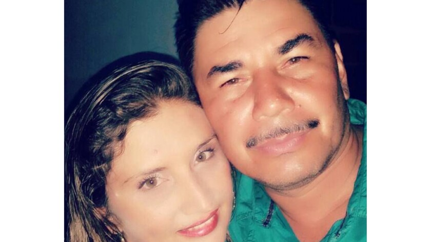 former FARC commander Juan Vicente Carvajal, alias Misael, with his wife Janeth, taken shortly befo