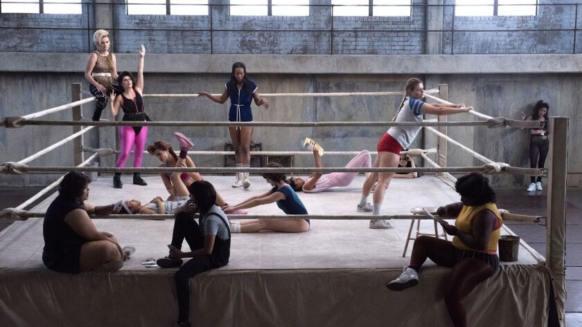 """A scene from the Netflix series """"GLOW."""""""