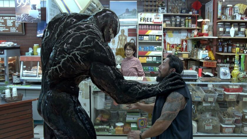 "A scene from the movie ""Venom."""
