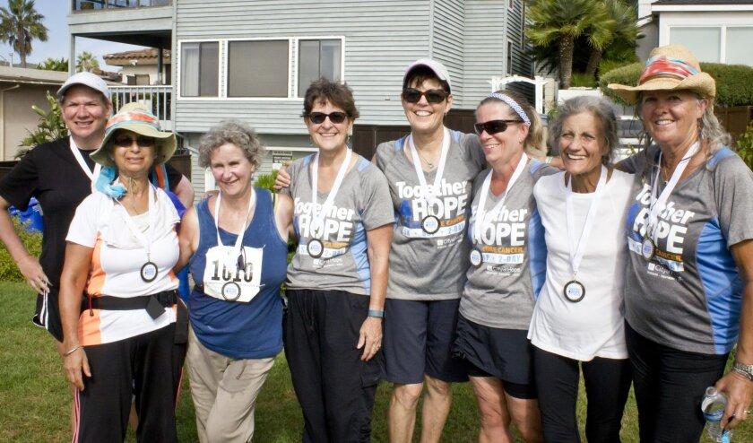 """Grandmothers 4 Hope"" (left to right): Jessie Stocking, Rosie Anand, Ellen Carpentier, Marybeth Brown, Maureen Kowba, Linda Hill, Debra Romano, Gail King."