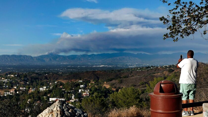 Smoke from wildfires is just one of the public health concerns related to climate change.