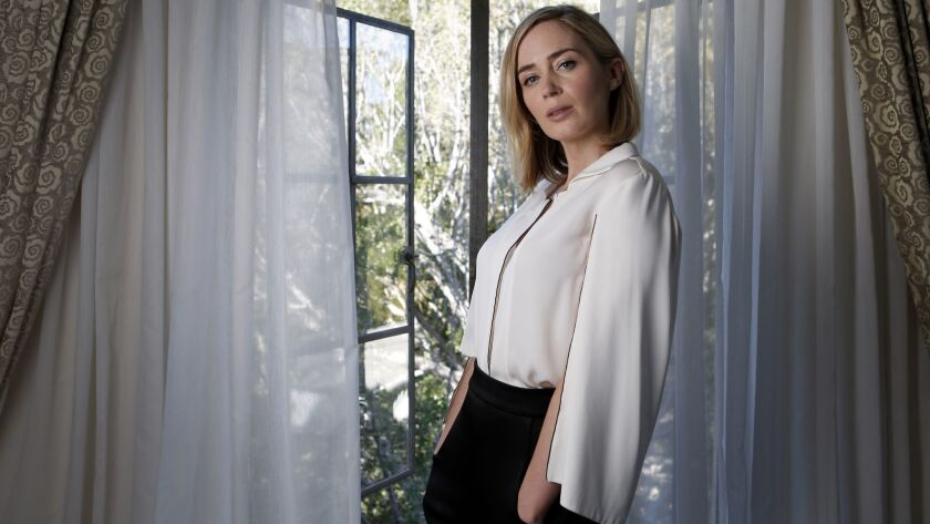 """Actress Emily Blunt was attracted to the idea that her character in """"The Girl on the Train"""" is gin-soaked, given to blackouts and prone to drunk dialing her ex-husband."""