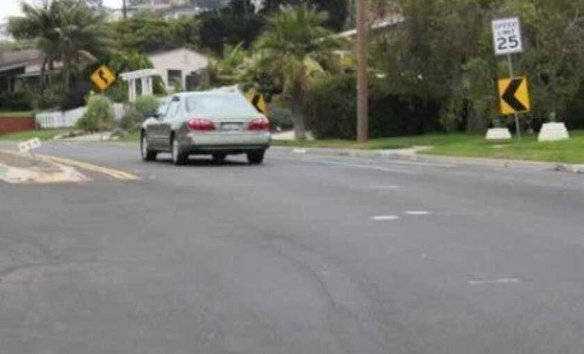 Residents fear a 10 mile-per-hour speed limit increase on Nautilus Street could prove perilous, especially near the curve at Avenida Manana, where a blind spot makes it difficult to enter and exit onto the busy throughway. There have been two accidents at the curve in the past year. Pat Sherman