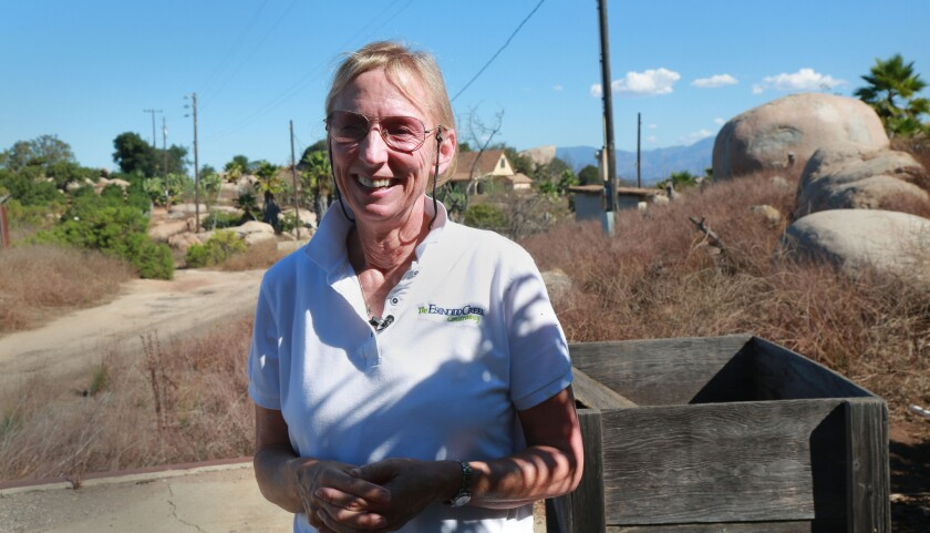 Ann Van Leer, executive director of the Escondido Creek Conservancy, talks about the two new plots of land they are in negotiations to acquire that would be vital pieces of the greenbelt between Interstate 15 and Lake Wohlford.