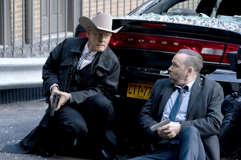 "Lyle Lovett and Donnie Wahlberg in CBS' ""Blue Bloods"""