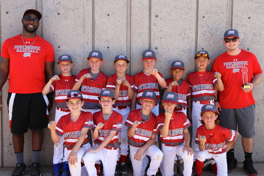 The Del Mar Powerhouse 9U baseball team traveled to spring training in Arizona this past weekend and placed second in the USSSA Spring Championships tournament.