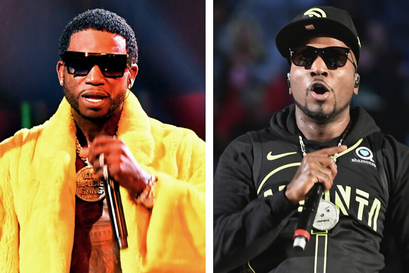 Gucci Mane, left, and Jeezy will battle on Verzuz