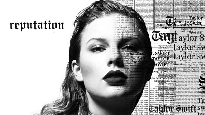 """Cover image from Taylor Swift's forthcoming album """"Reputation,"""" due Nov. 10"""