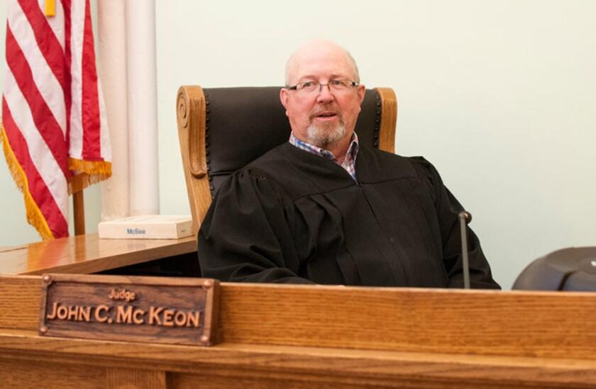 Judge John McKeon in court.