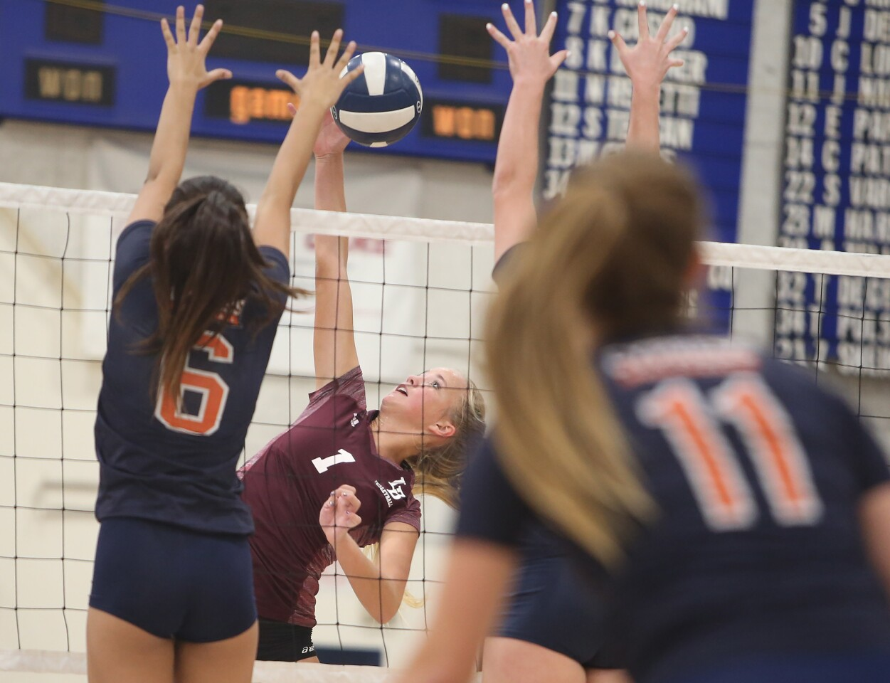 Photo Gallery: Laguna Beach vs. Cypress in girls' volleyball