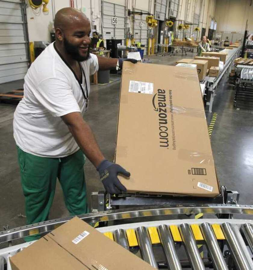 Two new Amazon distribution centers in Northern California are running