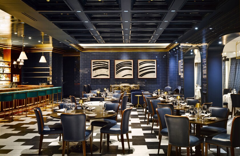 The Blue Room at Carbone at Aria.