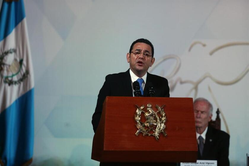 En la imagen, el presidente de Guatemala, Jimmy Morales. EFE/Archivo