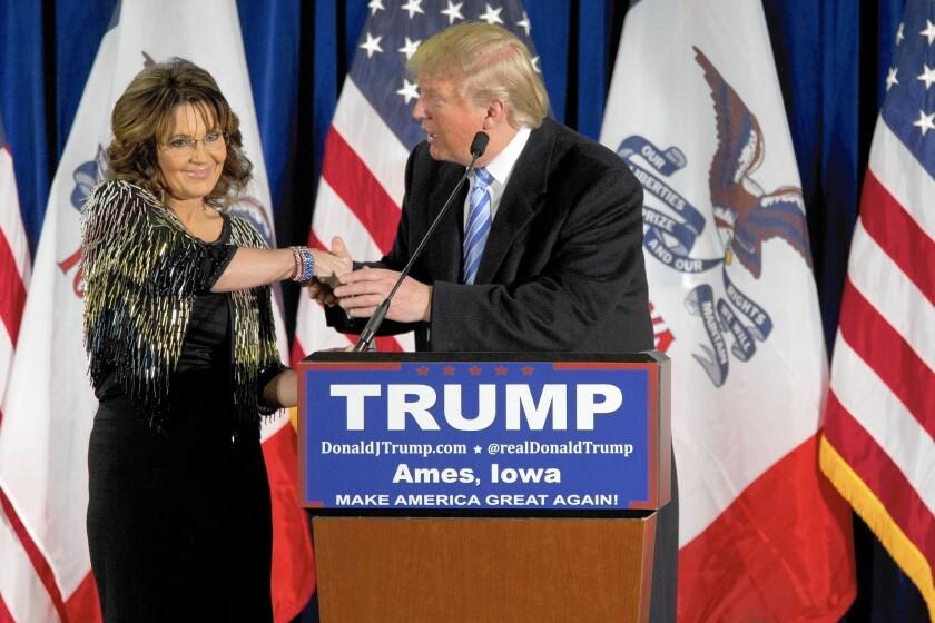 Sarah Palin endorses Donald Trump