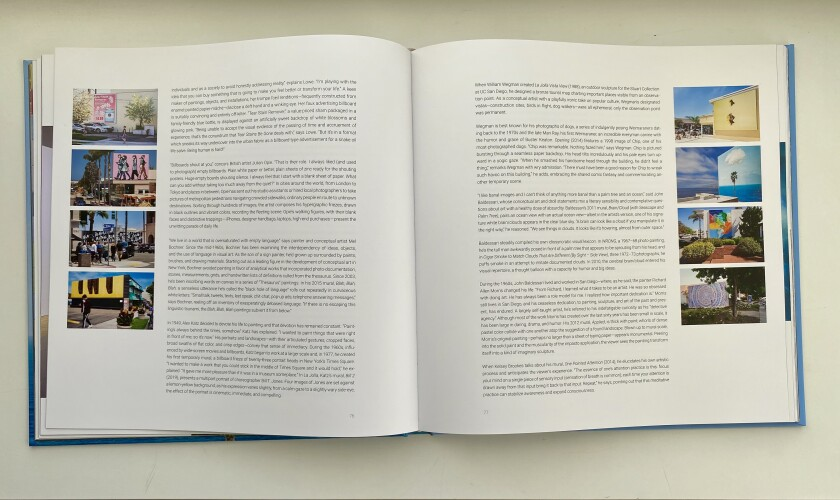 The Murals of La Jolla book contains a map of the mural sites, essays and bios of each of the 32 artists.